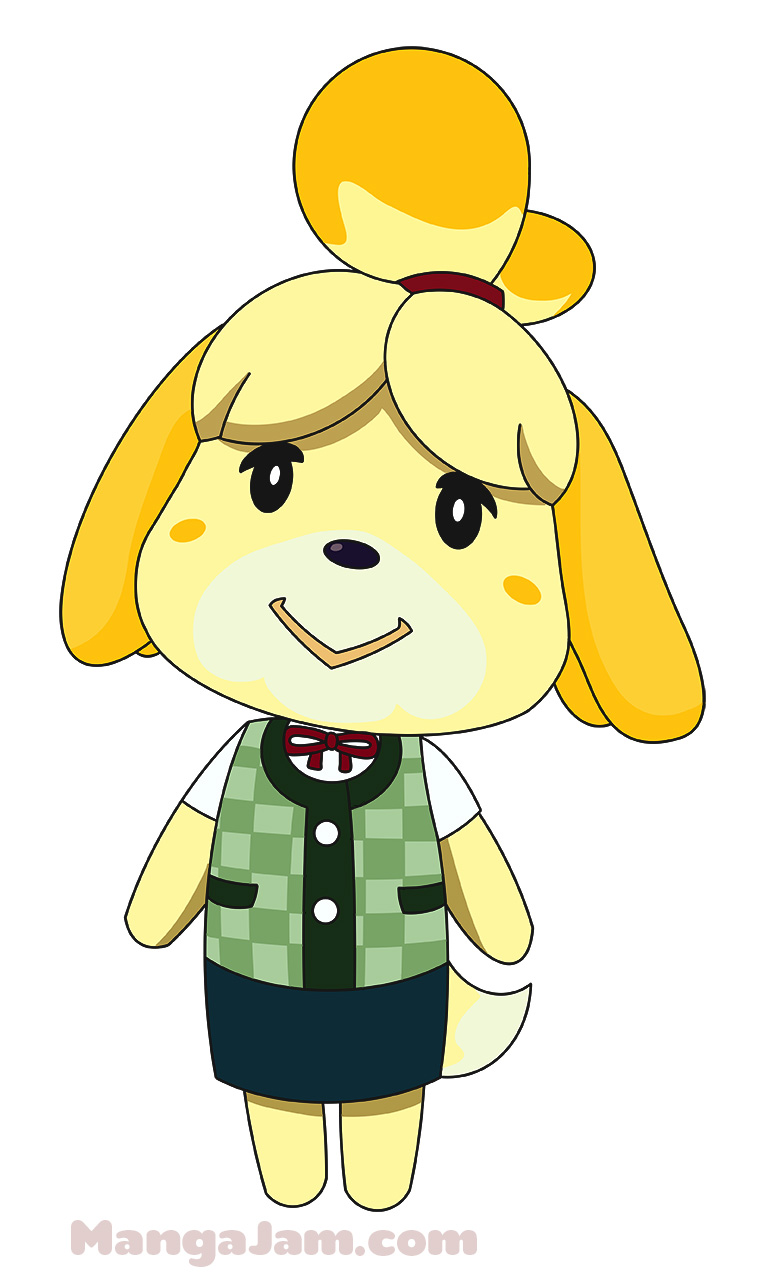 How To Draw Isabelle From Animal Crossing Mangajam Com